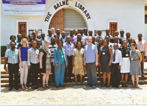 """Debating the ethics of digitisation."" The Digital Futures 2015 workshop group, taken outisde the Balme Library,, University of Ghana, Legon"